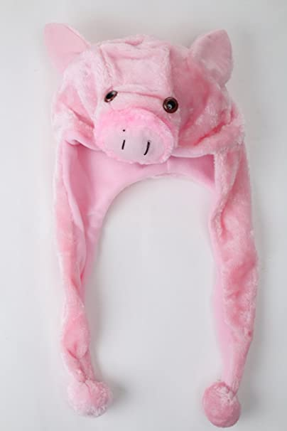 Tier Mütze Plüsch Kappe Schwein Ferkel