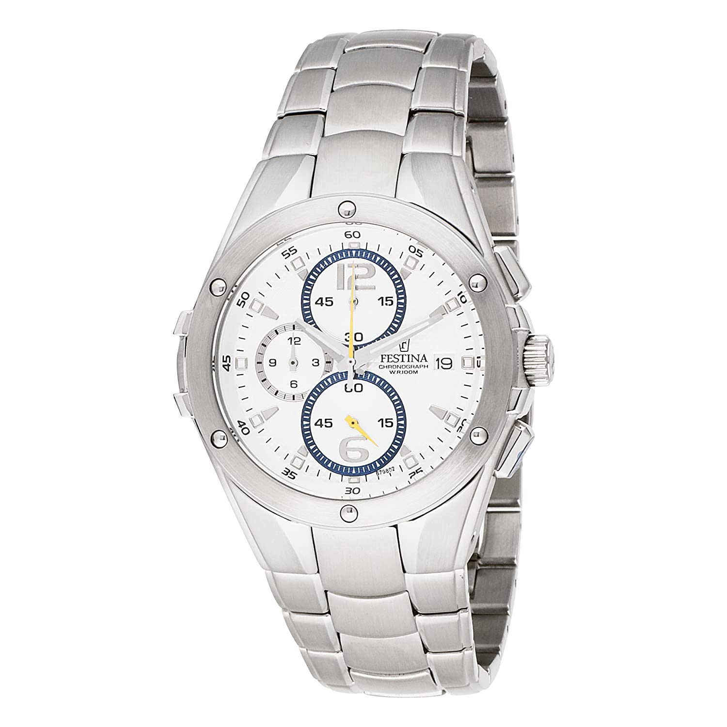 Amazon.com: Festina hombre F6798/2 Big Eye Chrono Acero ...