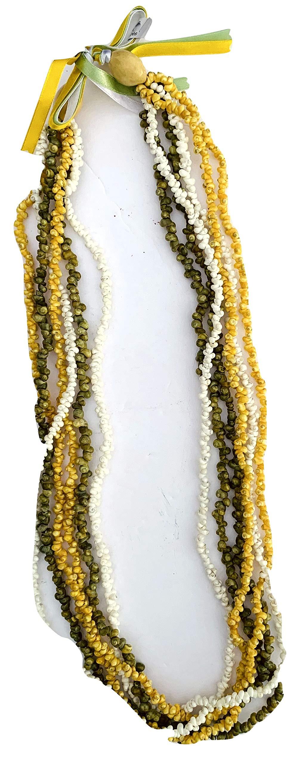 da Hawaiian Store Ten Strand Mongo Sea Shell Lei Necklace (Tri-Color, 32)
