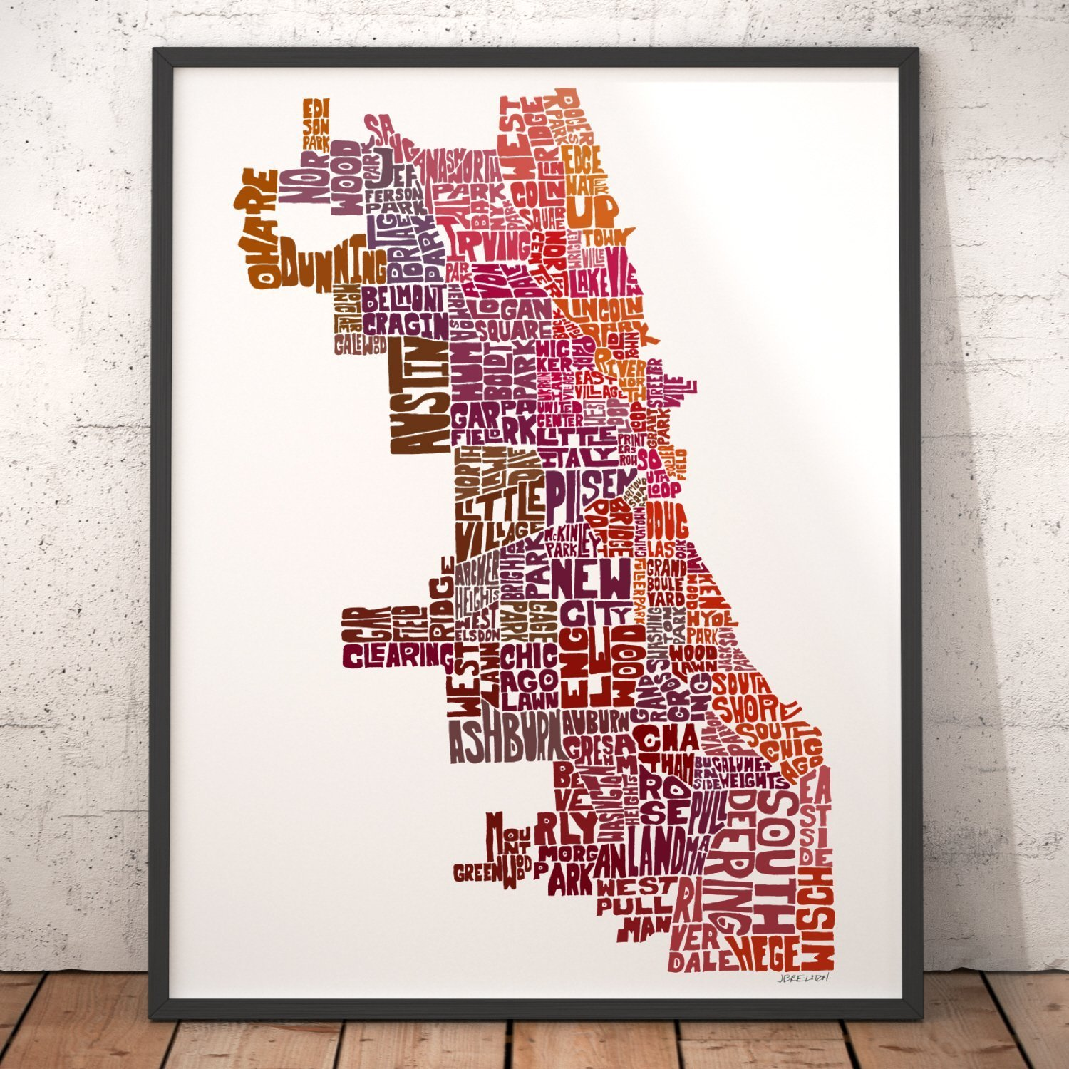 1b702915 CHICAGO Map Art Print, Typography Map Art, City Map Wall Décor, featuring  neighborhood names, artist signed print from hand-drawn city typography  series of ...