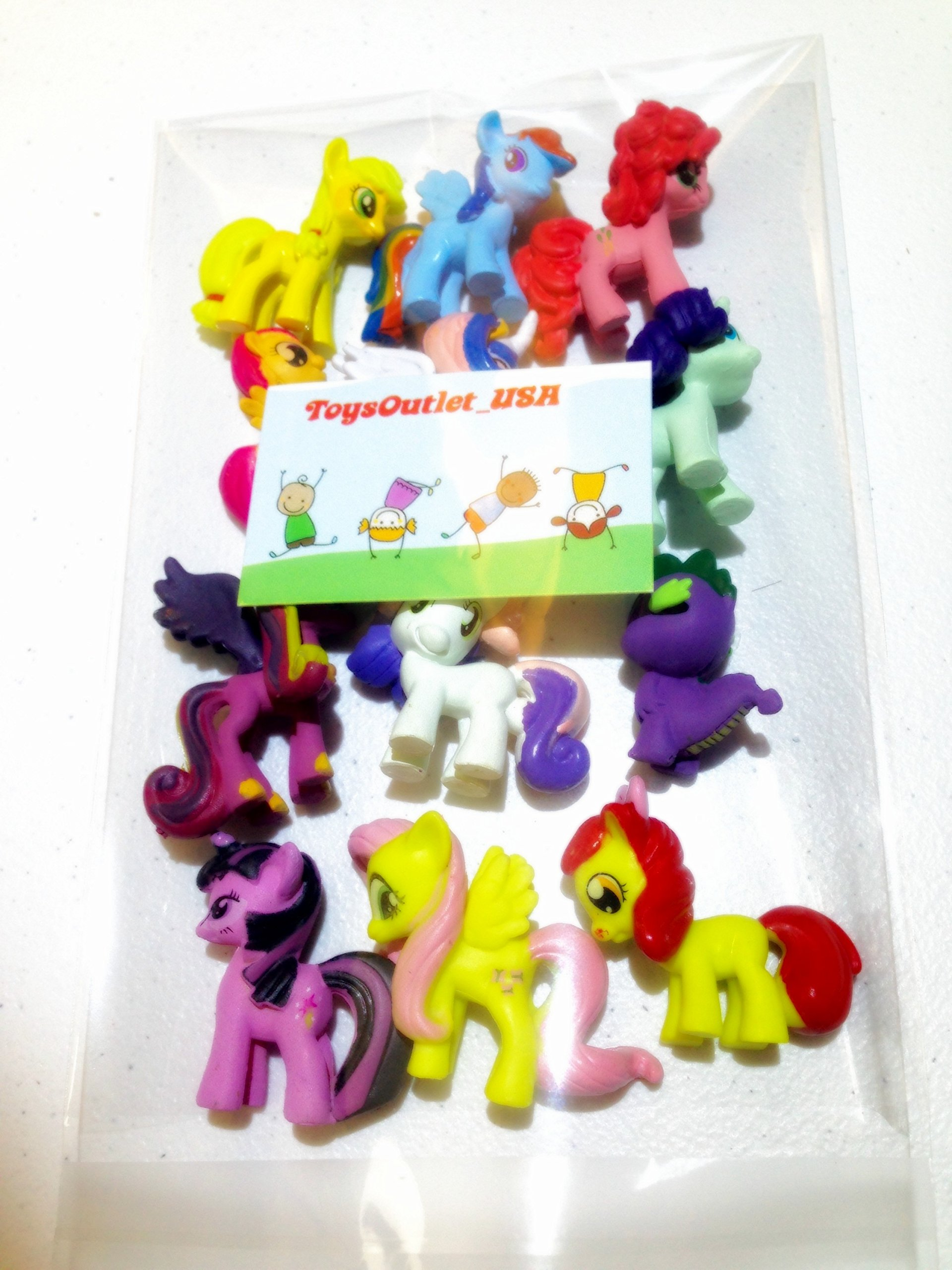 My Little Pony Set 12 pcs Toys | PVC Mini Figure Collection Playset | Kids Decor Cupcake Topper + Pony Stickers by My Little Pony (Image #8)