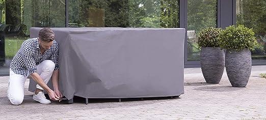 ATLANTIS Outdoor Copertura Protettivo per Mobili da Giardino Tavolo e Set Sedia 245 x 150 x 95 cm Certificato T/ÜV Rheinland Impermeabile Grigio Resistente alle Intemperie