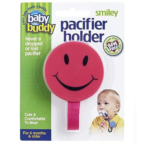 Soporte para chupete sonriente de Baby Buddy rosa Talla:1 ...