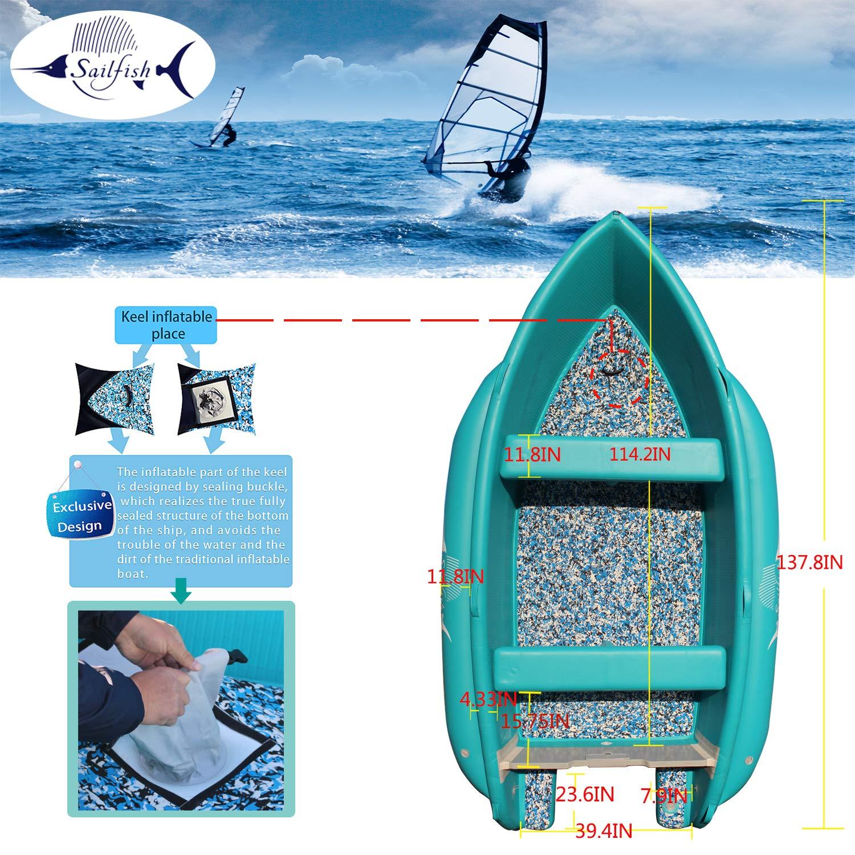 Amazon.com: Sailfish - Barco hinchable de caucho estructural ...