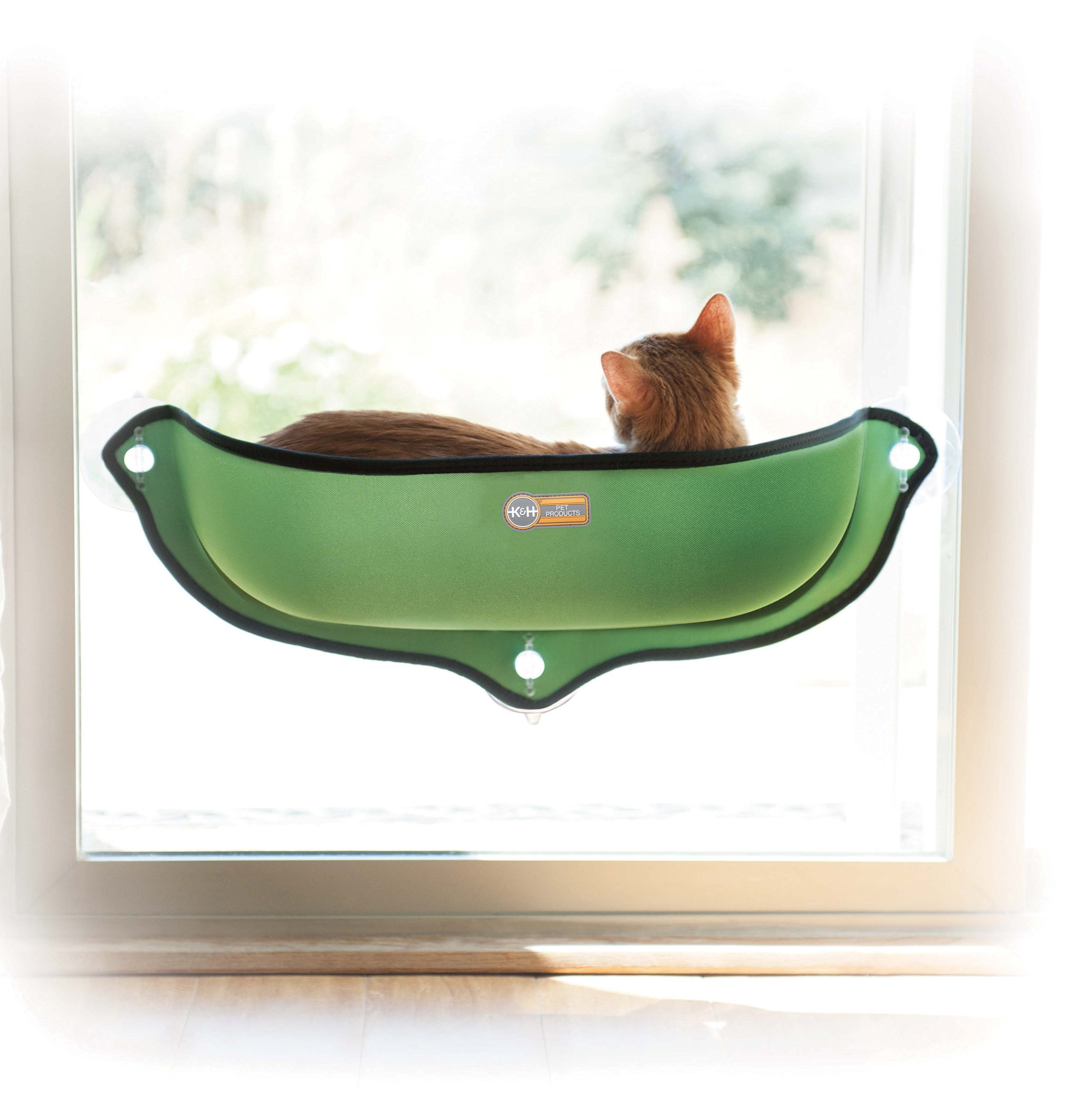 K&H Pet Products EZ Mount Window Bed Kitty Sill Green 27'' x 11''