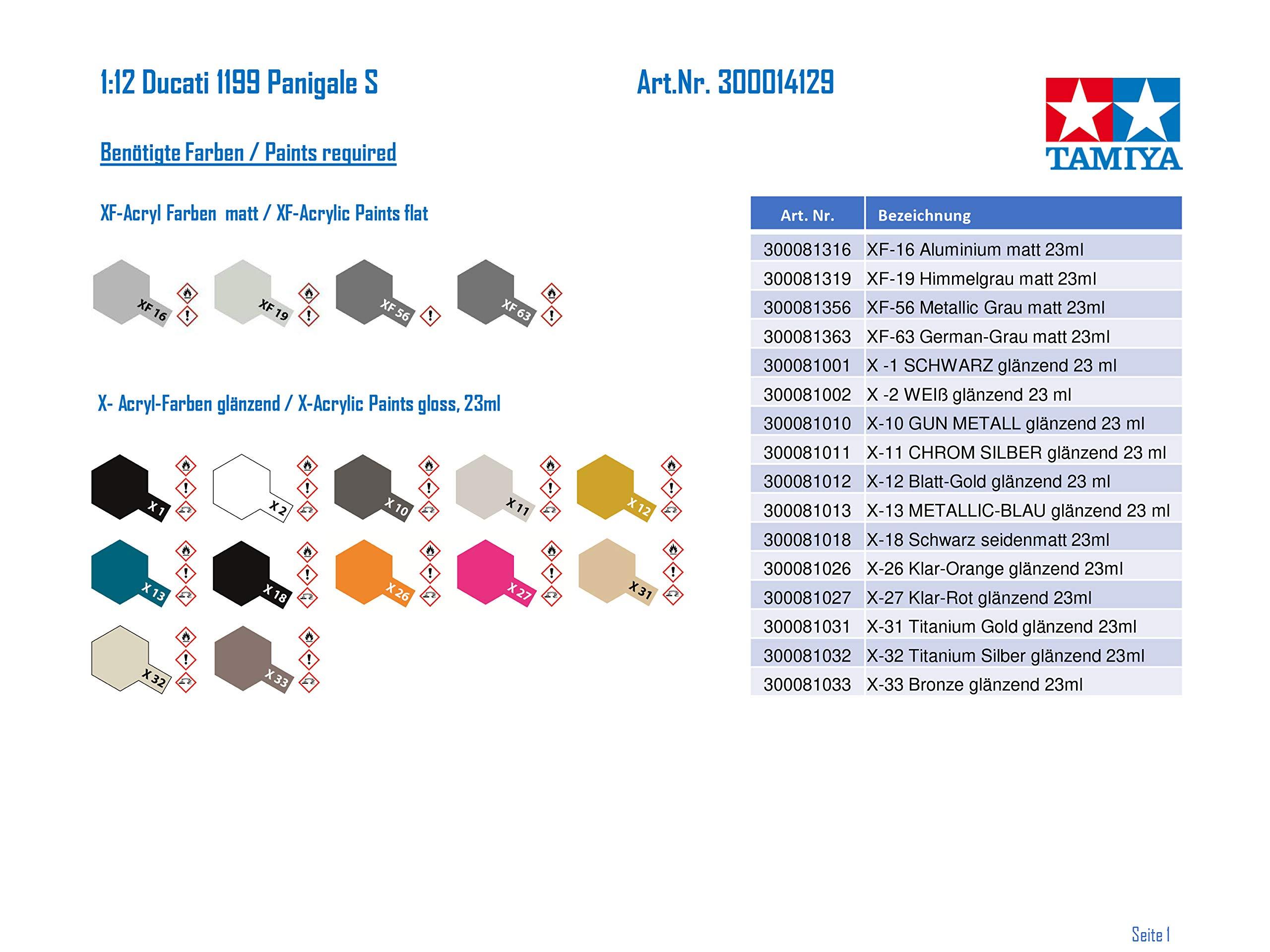 Tamiya 14129 1:12 Ducati 1199 Panigale S Model 3
