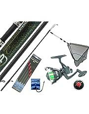 Hunter Pro Complete Fishing Kit Set 11' Carbon Rod, Rear Drag Reel, Landing Net and Tackle Set