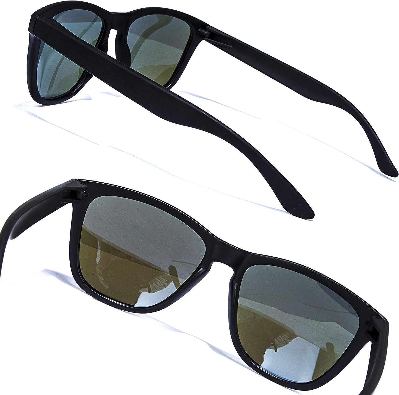 AOKNES Polarized Sunglasses Classic Retro Glasses Fashion Round Nerd Sun Glasses