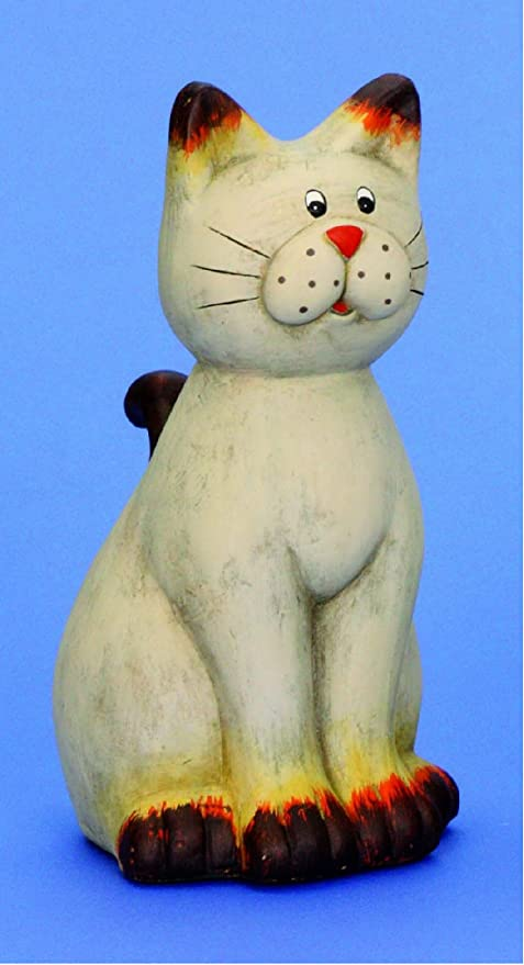 Gato gatos cerámica figura de gatos figura abstracta: Amazon.es: Hogar