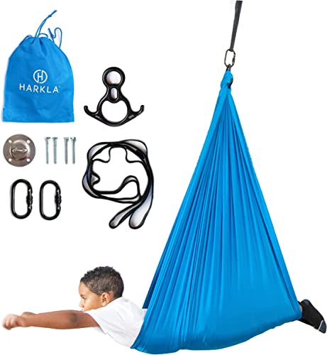 Harkla Indoor Therapy Swing for Kids - Sensory Swing Great for Autism