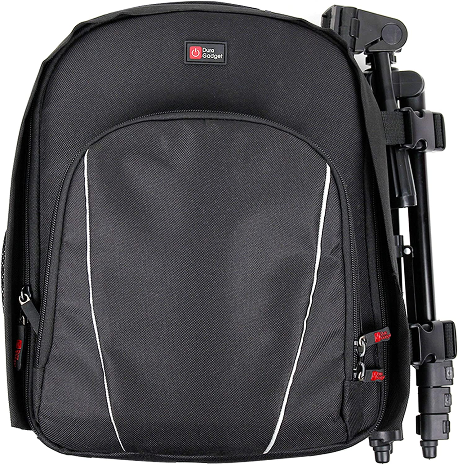 Compatible with the Sony FDR-AXP33 DURAGADGET Rucksack w//Adjustable Padded Interior /& Raincover