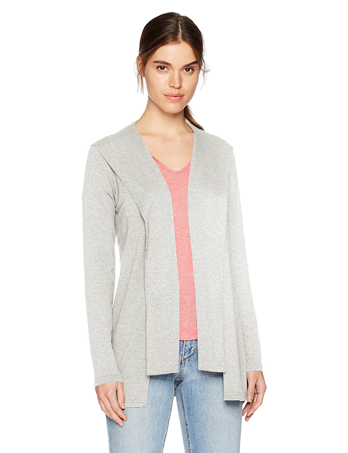 Michael Stars Womens Elevated French Terry Draped Hoodie