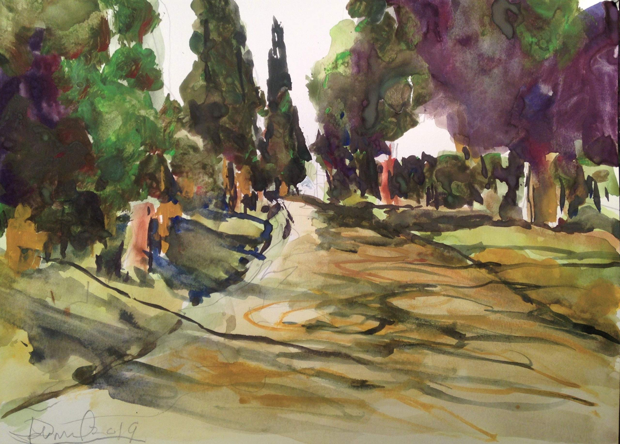Appian Way Near Rome by