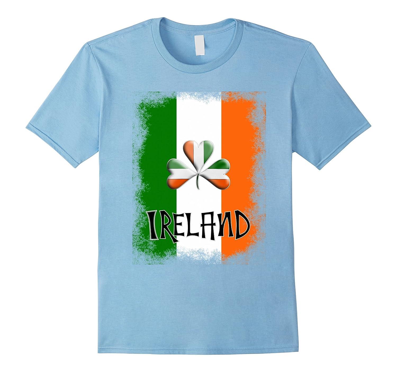 Ireland Themed Graphic Green White Orange Flag Shamrock