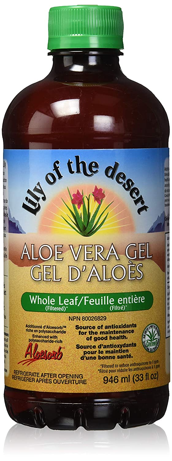 Lily of the Desert Aloe Vera Gel, Whole Leaf, 32 Ounce