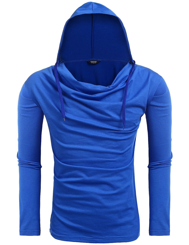 COOFANDY Men's Long Sleeve Hooded Sweatshirt Pullover Hoodie ETJ006292
