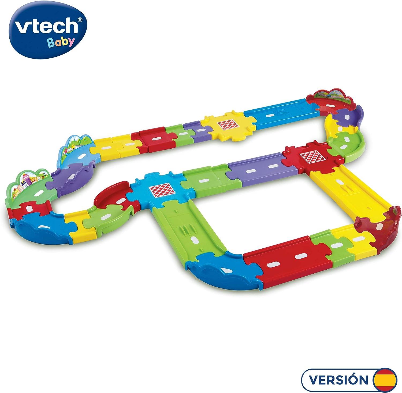 VTech - 30 tramos de pista para combinar con el resto de playsets TutTut Bólidos, crea tus propios circuitos y conduce los vehículos por todos sus rincones (80-148122)