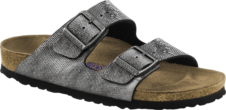 Birkenstock Sandale Arizona SFB Birko-Flor Weichbettung normal 40 EU Used Jeans Grey