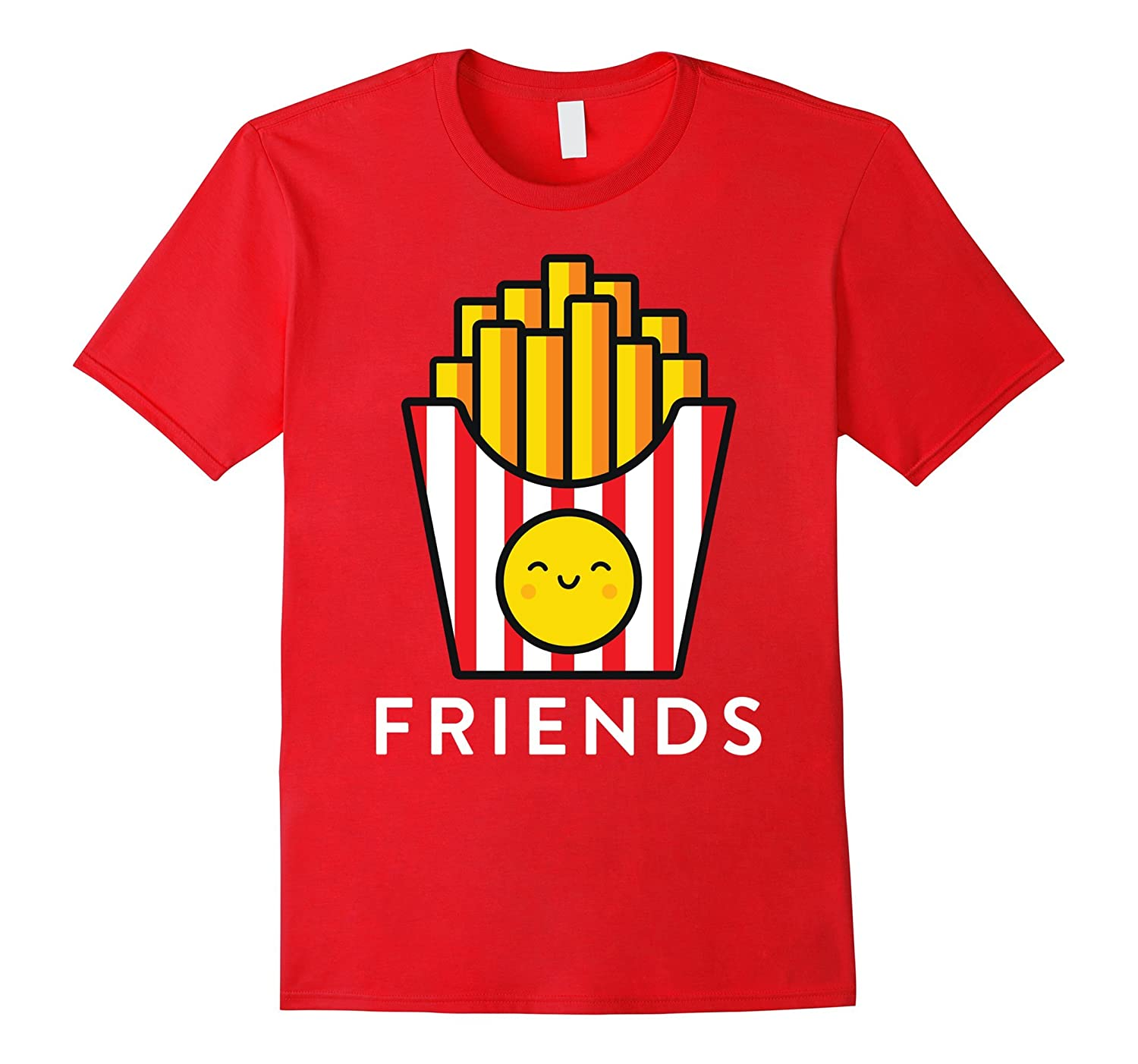 Burger Fries Best Friend T Shirts - Matching BFF Outfits Tee-PL