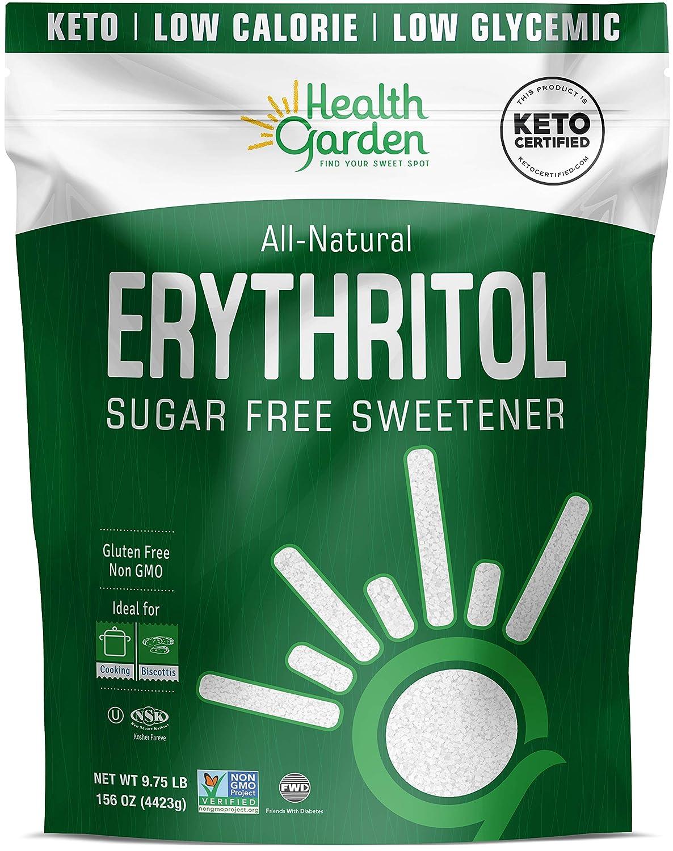 Health Garden Erythritol Sweetener - Non GMO - Gluten Free - Sugar Substitute - Keto Friendly - Tastes Like Sugar (9.75 lbs)