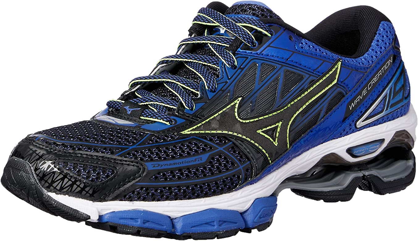 Mizuno Wave Creation 19, Zapatillas de Running para Hombre, Multicolor (Black/Black/dazzlingblue 10), 40.5 EU: Amazon.es: Zapatos y complementos