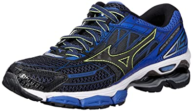 finest selection a7580 254fb Mizuno Wave Creation 19, Chaussures de Running Homme, Multicolore  Black dazzlingblue 10,