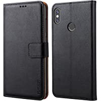 """Peakally Coque Xiaomi Redmi Note 5, PU Etui Housse en Cuir Portefeuille de Protection, Livre Horizontale pour Xiaomi Redmi Note 5 5.99""""-Noir"""