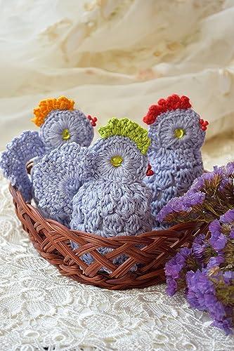 Ostern Häkeln Huhn Gemütlich Gehäkelt Hähnchen Satz Von 3 Osterei