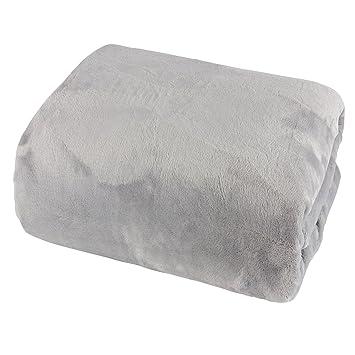 Mojawo Cashmere Touch Drap Housse 150 x 200 cm 100% Polyester Gris