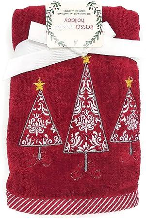 Kassa Moda - Juego de Toallas de Mano Bordadas para árboles de Navidad: Amazon.es: Hogar