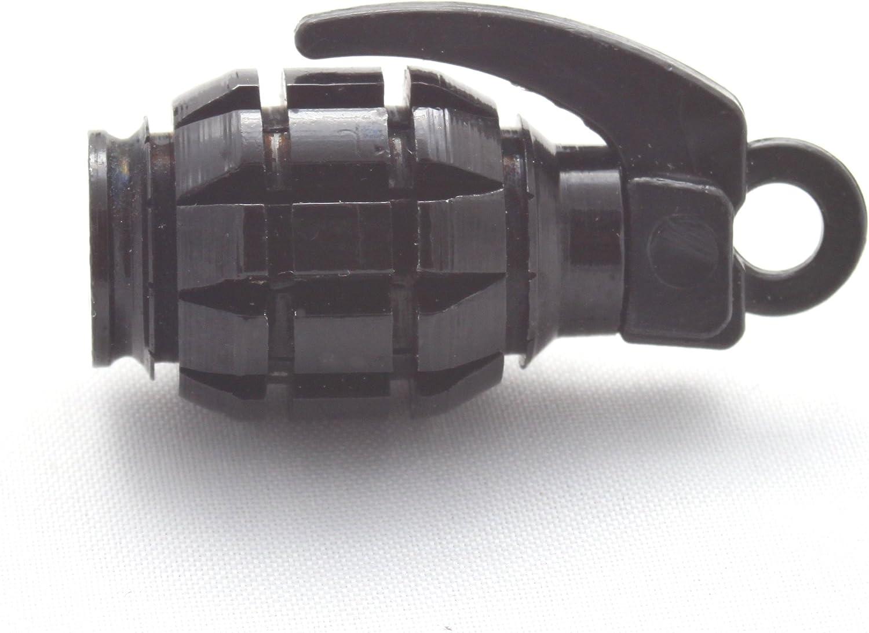 Schwarz Black Ventilkappe Vhsch 4X Ventilkappen Handgranate Granate Farbe