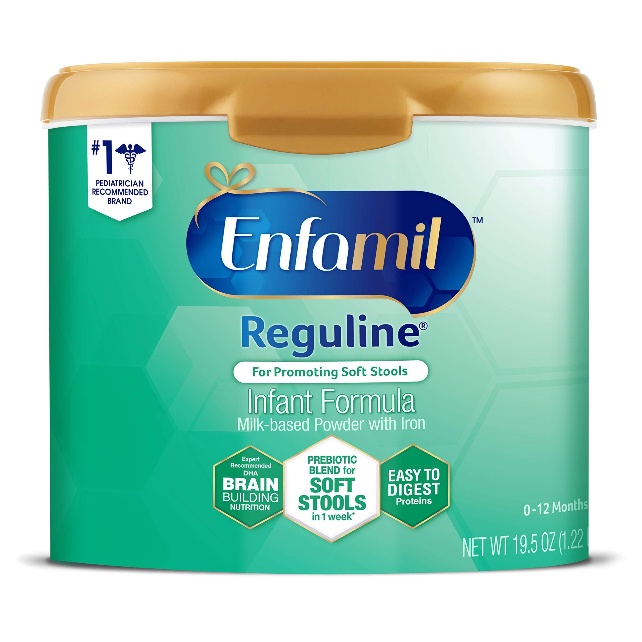 Enfamil Reguline Infant Formula - Designed for Soft, Comfortable Stools - Reusable Powder Tub, 19.5 oz