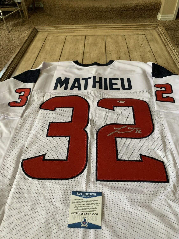 brand new 8f877 0efc7 Tyrann Mathieu Autographed Signed Jersey Beckett Coa Houston ...