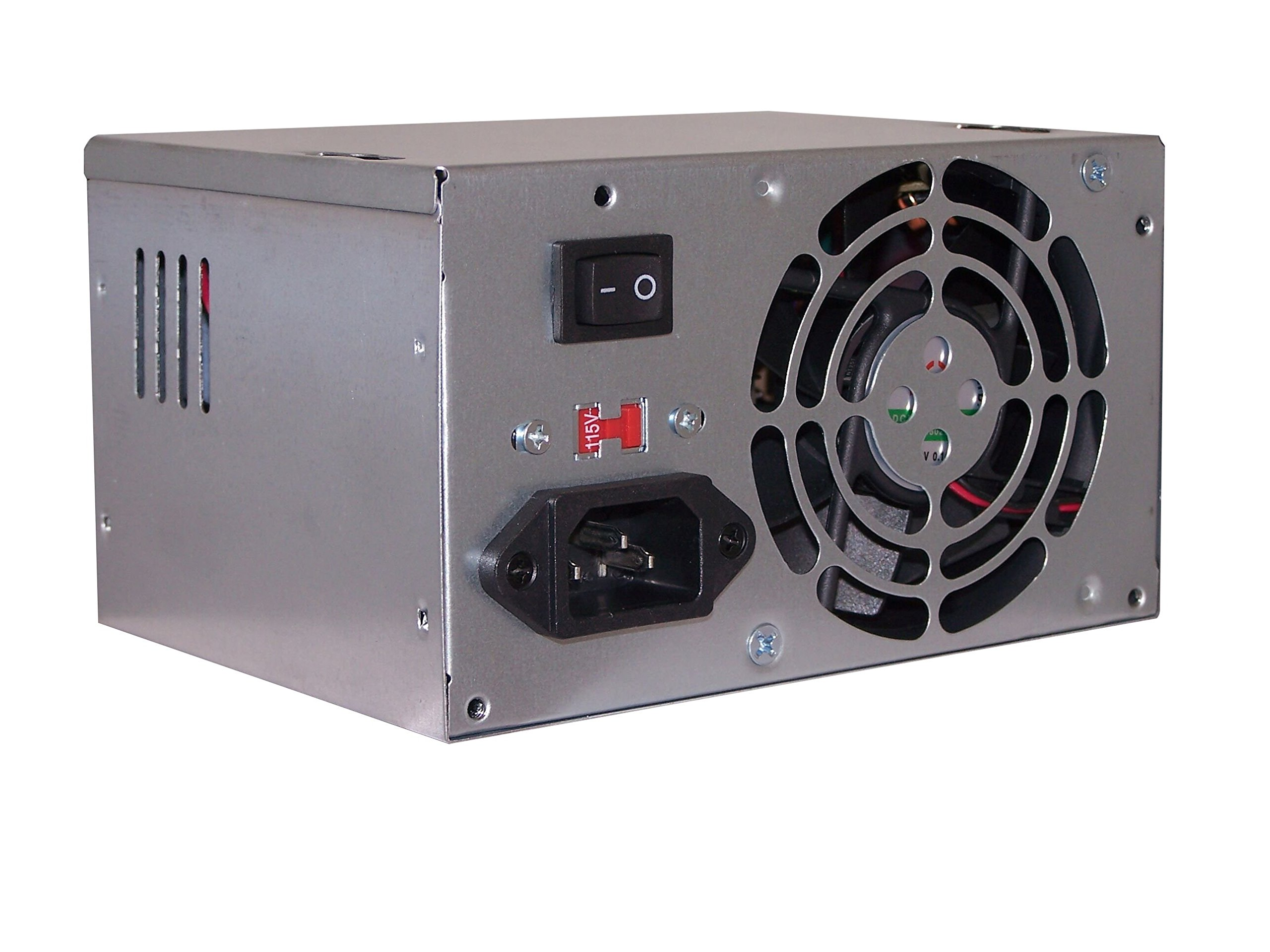 SHARK TECHNOLOGY ATX-500 SATA4 500-Watt 80mm Fan ATX 12V V2.0 4-SATA 24pin PC Power Supply Unit for Desktop Computer ATX Case/ PS3 Mini Tower Chassis