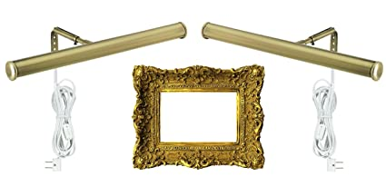 Amazon.com: 14-Inch Picture Light Fixture (2-Lights, Antique Brass ...