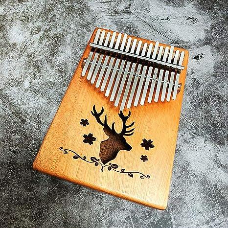 Faraw Kalimba,Teclado de percusión para Piano de 17 Teclas con instrucción y Martillo de
