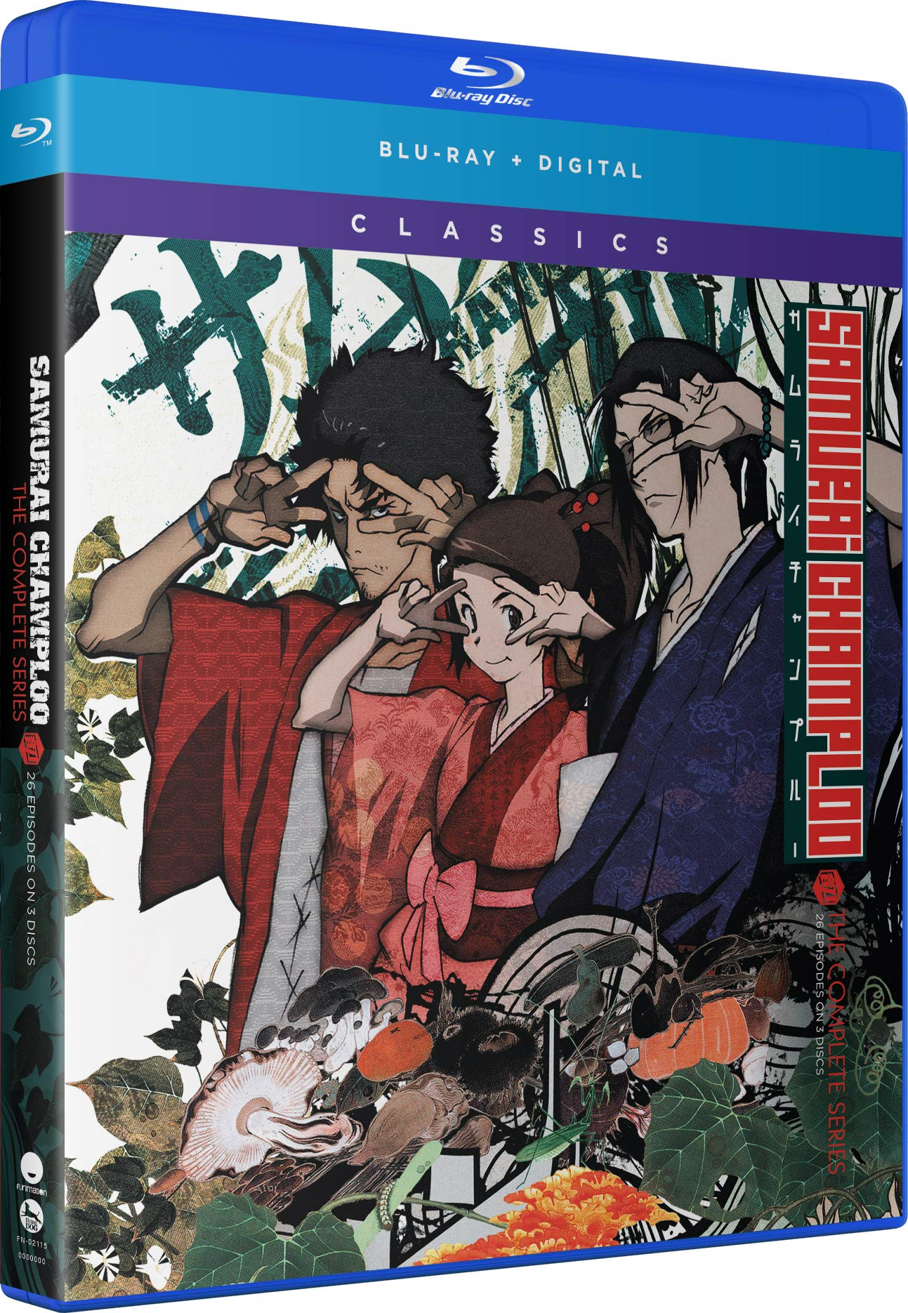 Blu-ray : Samurai Champloo: The Complete Series (Subtitled, 3 Pack, Digitally Mastered in HD)