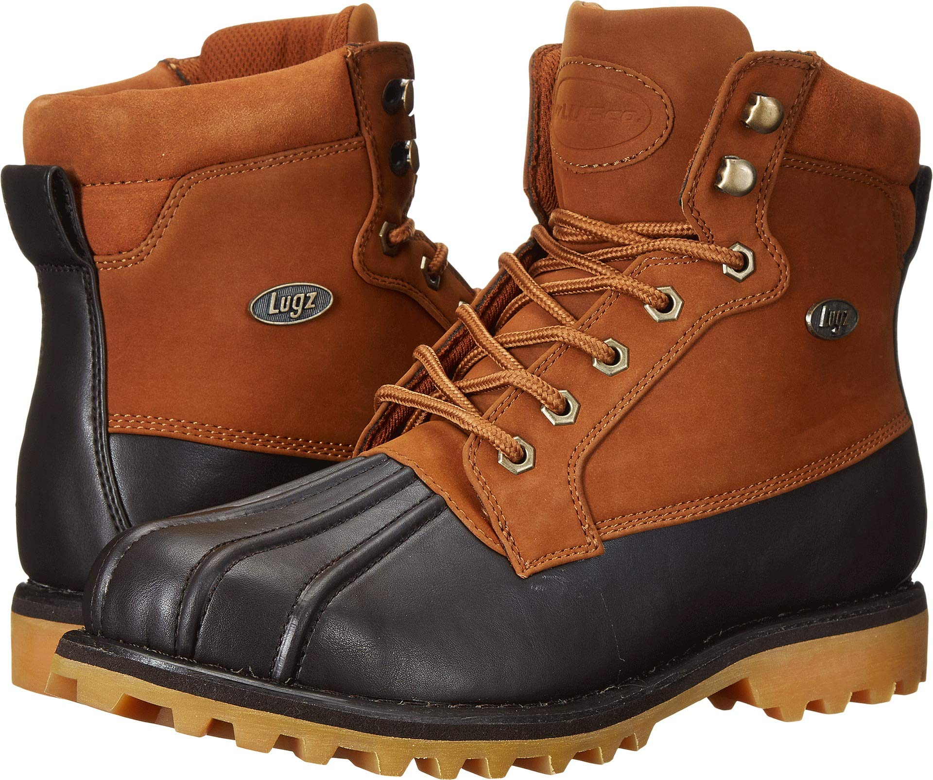 Lugz Men's Mallard Winter Boot, Rust/Dark Brown/Gum, 13 D US