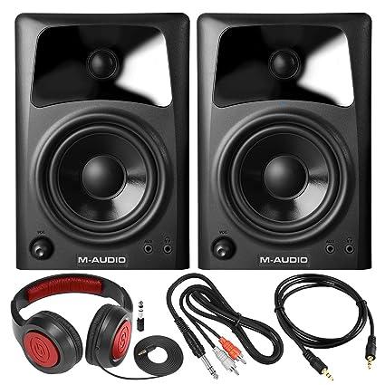 Amazon.com: M-Audio AV42 - Altavoces compactos de estudio ...