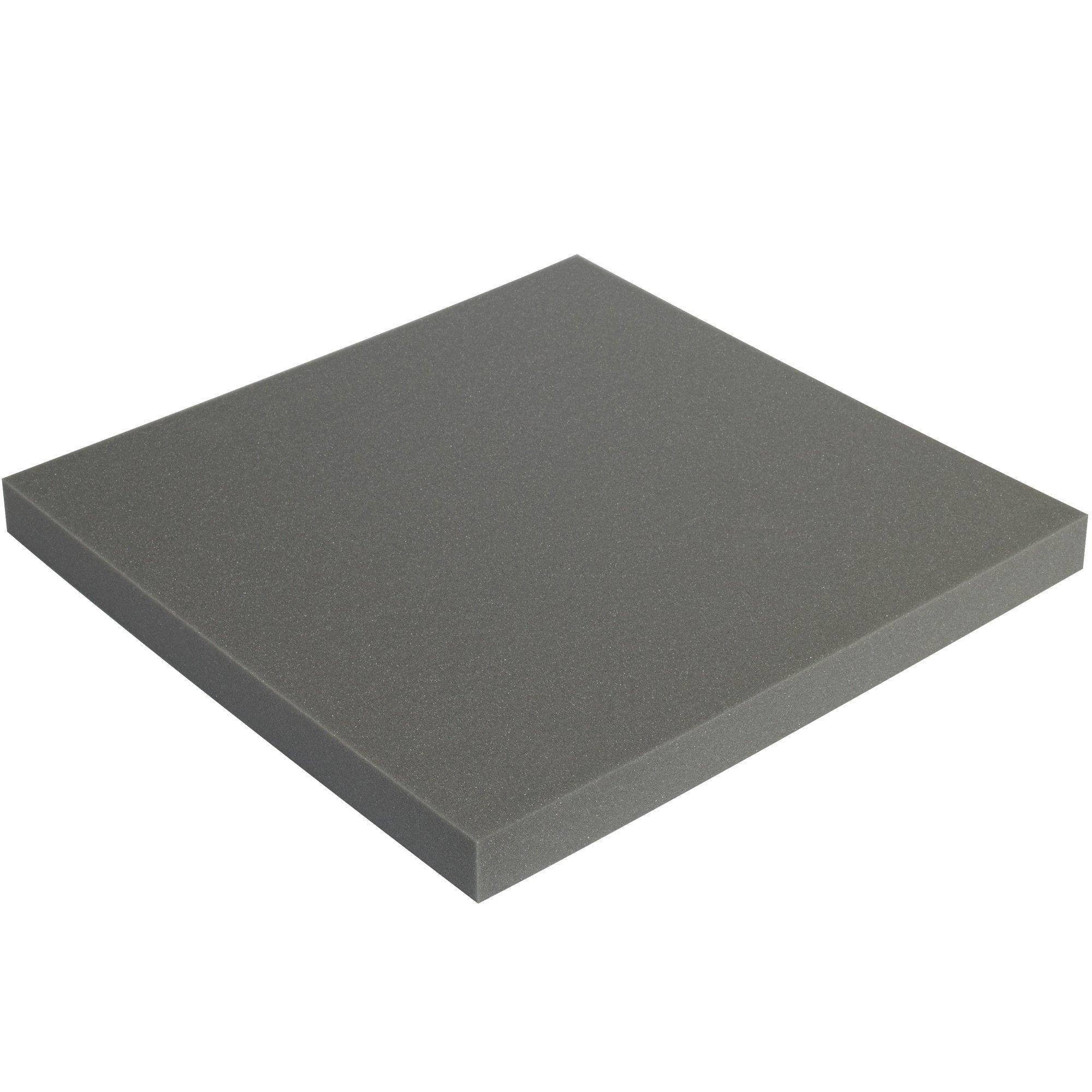 BOX USA BFSC12121 Soft Foam Sheets, 1'' x 12'' x 12'', Charcoal (Pack of 48) by BOX USA