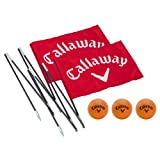 Callaway Back Yard Driving Range Golf Flag Poles - Red