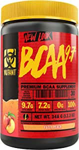 Mutant BCAA 9.7 Supplement BCAA Powder with Micronized Amino Energy Support Stack - 348 g - Fuzzy Peach
