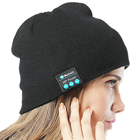MP power   Musica cappello cuffia auricolare Bluetooth Beanie berretto con  costruito in stereo Wireless cuffia Auricolare per ... 8e2b3892818c