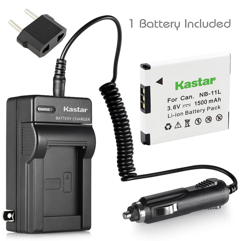 Kastar充電器、バッテリーfor nb-11l-1 NB - 11l nb11l 11l B016CGV1D0  1 battery + 1 charger