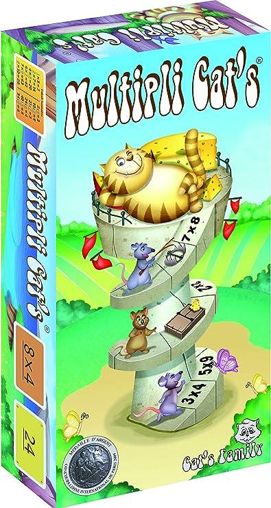Cats Family, Multipli CatS, Juego de Cartas matemáticas sobre Las mesas de multiplicación, Medalla de Plata del Concurso Lépina 2009, a Partir de 7 años.: Collectif: Amazon.es: Juguetes y juegos