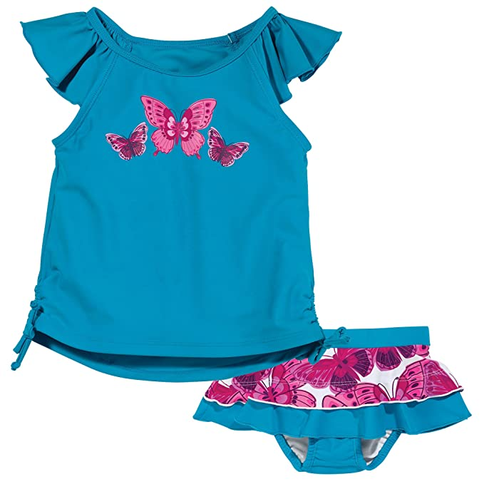 hot sale online dbea5 9aed4 One Step Ahead Sun Smarties Butterfly Tankini and Reusable Cloth absorbant  Swim Diaper Skirt