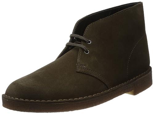 c4b4fc486160d4 Clarks - Desert Boot, Stivali Chukka da uomo, Verde (Grün (Olive Suede