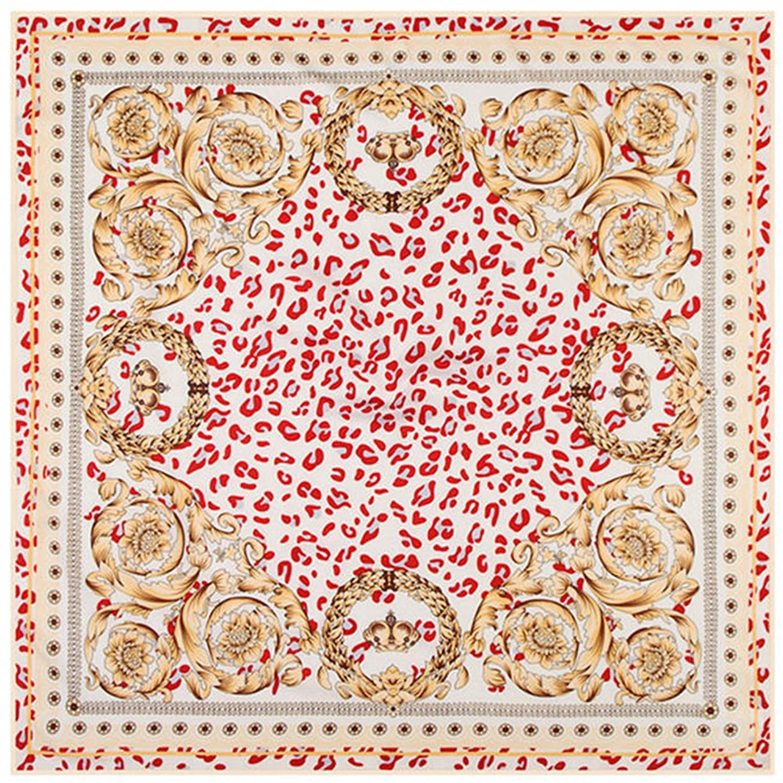 PG Twill Silk Scarf Square Scarves Pashmina Shawls Wraps Neck Gaiters Printed