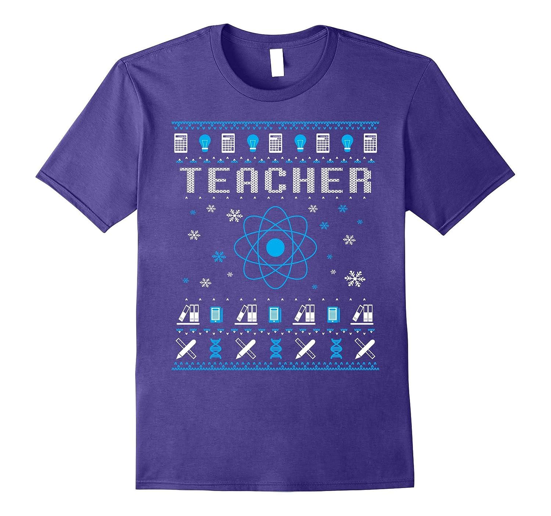 Back To School Teacher Christmas Sweater Style T-Shirt-Art