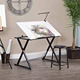 """SD Studio Designs Studio Designs 13353 Axiom Modern Art, Drawing, Crafting, Drafting, 42-Inch Wide MDF Adjustable Angle Top Table in Charcoal/White, W x 24"""" D x 30"""" H"""